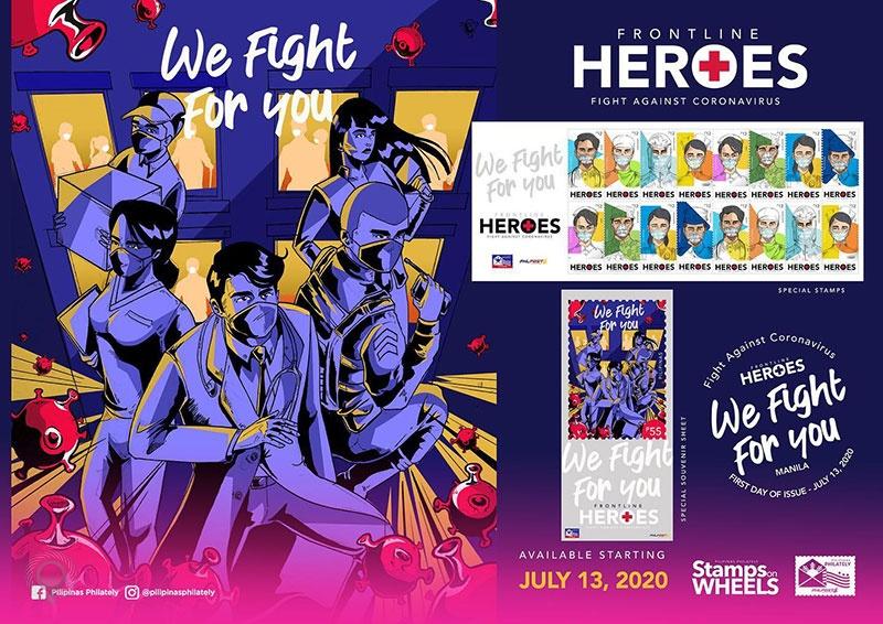 """菲律宾于7月13日发行""""致敬抗疫英雄""""邮票"""